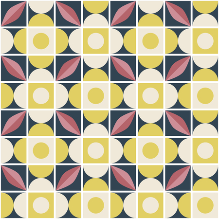 seamless retro pattern in mosaic style