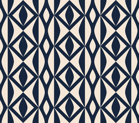 seamless retro pattern with geometric shapes