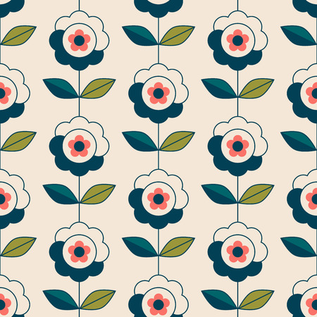 Seamless pattern with flowers and leaves 版權商用圖片 - 125698229