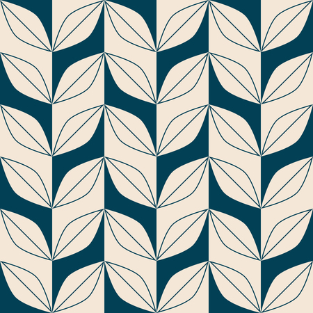 seamless retro pattern with abstract leaves 版權商用圖片 - 125698239