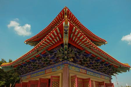 nontaburi: Pavilion at Chinese temple in Nontaburi, Thailand Stock Photo