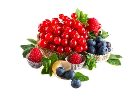 Group of fresh ripe colorful berries