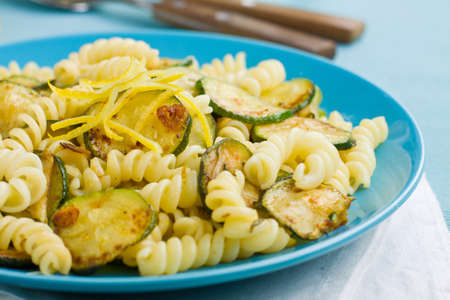 courgettes: Close up of pasta with courgettes