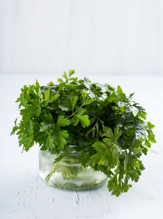 Bunch of fresh green parsley Stock Photo