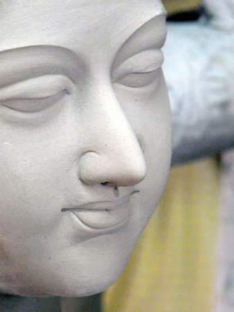 Clay Statue in the Kalighat Market in Calcutta (Kolkata) India Stock Photo - 2650736