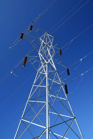 erect: An electrical tower in the sky.