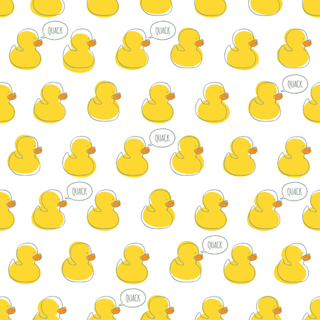 kiddish: Seamless minimal pattern with bright yellow kiddish baby ducks. For cards, invitations, wedding or baby shower albums, backgrounds and scrapbooks.Seamless pattern can be used for wallpapers.
