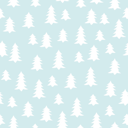 kiddish: Seamless minimal vector pattern with white winter trees. For cards, invitations, wedding or albums, backgrounds and scrapbooks. Illustration