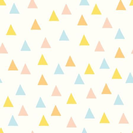 Modèle de vecteur minimal sans soudure avec des triangles colorés. Pour cartes, invitations, albums de mariage ou de baby shower, arrière-plans et albums.