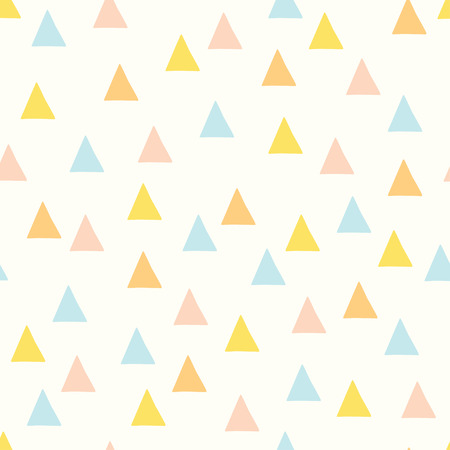 Seamless minimal vector pattern with colorful triangles. For cards, invitations, wedding or baby shower albums, backgrounds and scrapbooks.