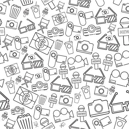 celebrities: celebrities universal movie icons line pattern