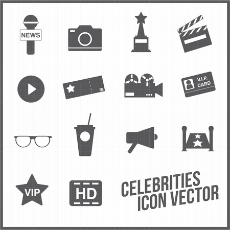 celebrities: celebrities universal movie icons line big set