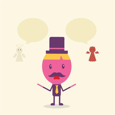 Businessman cartoon concept vector, flat style Illustration