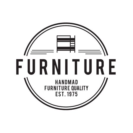 established: Furniture Emblem vintage vector set, Hipster and retro style, for corporate identity