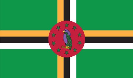 dominica: flag of dominica vector icon illustration