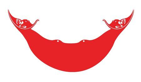 rapa nui: flag of easter island rapa nui vector icon illustration Vectores
