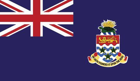 flag of cayman islands vector icon illustration Illustration