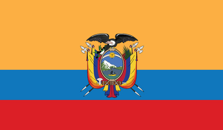 southamerica: flag of ecuador vector icon illustration Illustration
