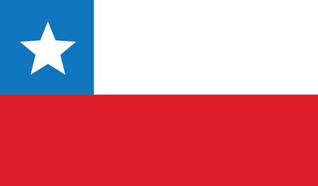southamerica: flag of chile vector icon illustration Illustration