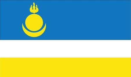 buryatia: flag of buryatia vector icon illustration Illustration