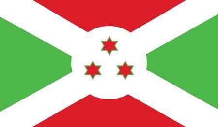 burundi: flag of burundi vector icon illustration