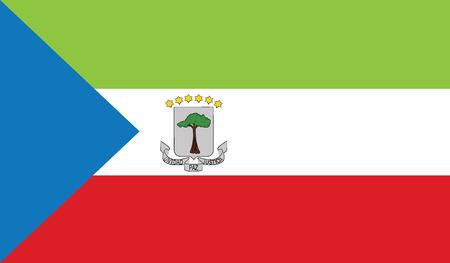 flag of equatorial guinea vector icon illustration Illustration