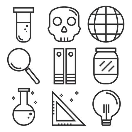 toxicology: Science icons, technology science medical set, illustration Illustration