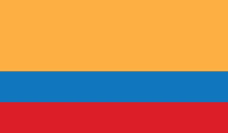 southamerica: flag of colombia vector icon illustration Illustration