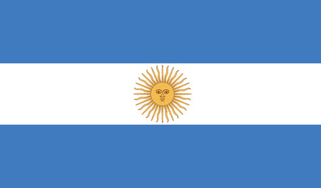 southamerica: flag of argentina vector icon illustration