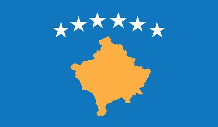 flag of kosovo vector icon illustration Illustration