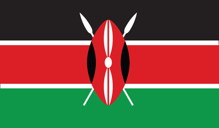 kenya: flag of kenya vector icon illustration Illustration