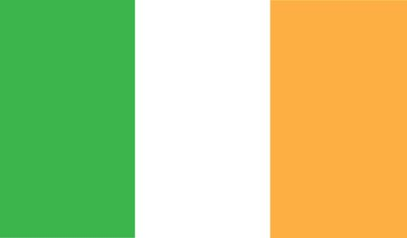 ireland flag: flag of ireland vector icon illustration