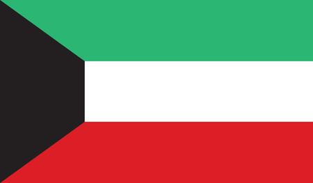 flag of kuwait vector icon illustration