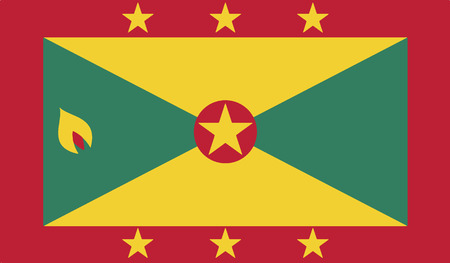 grenada: flag of grenada vector icon illustration