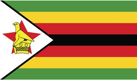flag of zimbabwe vector icon illustration