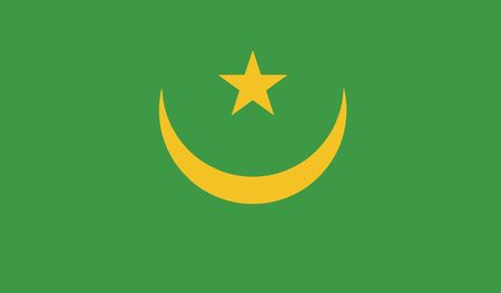 mauritania: flag of mauritania vector icon illustration