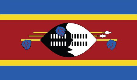 flag of swaziland vector icon illustration