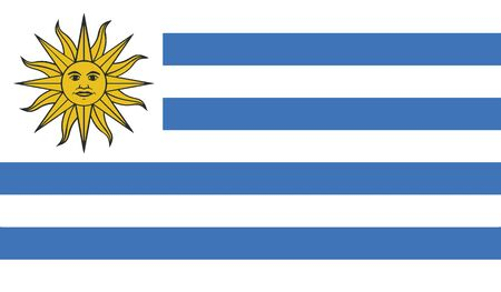 southamerica: flag of uruguay vector icon illustration Illustration