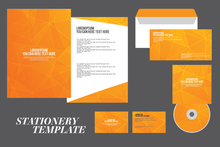 brochure cover design: corporate identity template, Vector company style, stationery