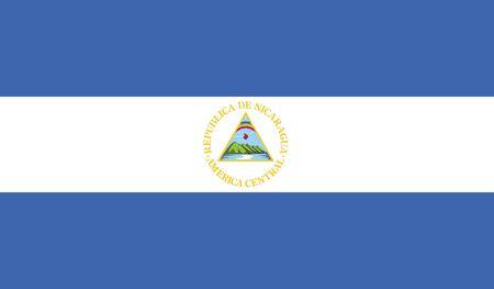 nicaragua: flag of nicaragua vector icon illustration