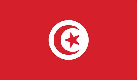 flag of tunisia vector icon illustration
