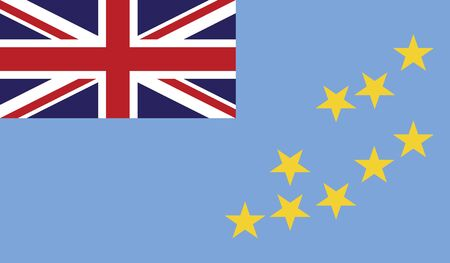 flag of tuvalu vector icon illustration Illustration
