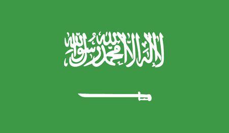 flag of saudi arabia vector icon illustration