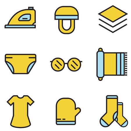 coser y costura iconos vector ilustración eps10