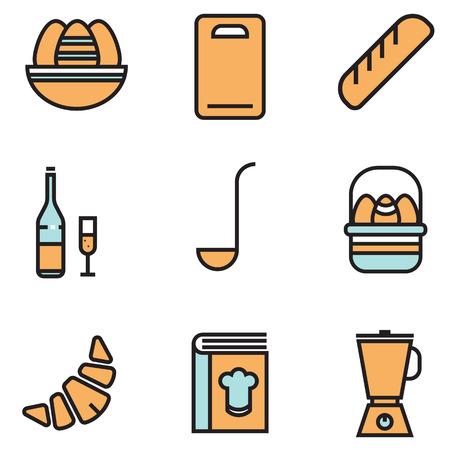 icone: cooking icons set vector design, illustration EPS10 Illustration