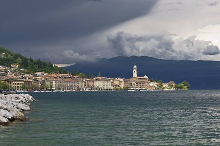 Gulf of Salo, Lake Garda overview during a summer storm photo