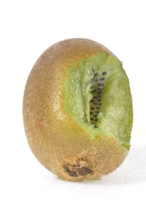 Foreground - appetizing kiwi green bitten peel