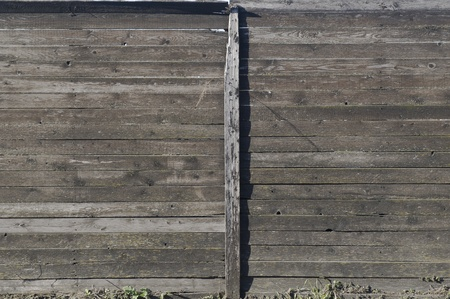 defaced: Wooden fence