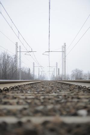 Las vías del ferrocarril Foto de archivo - 18014279