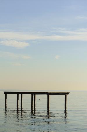 Wooden pier in Lake Garda